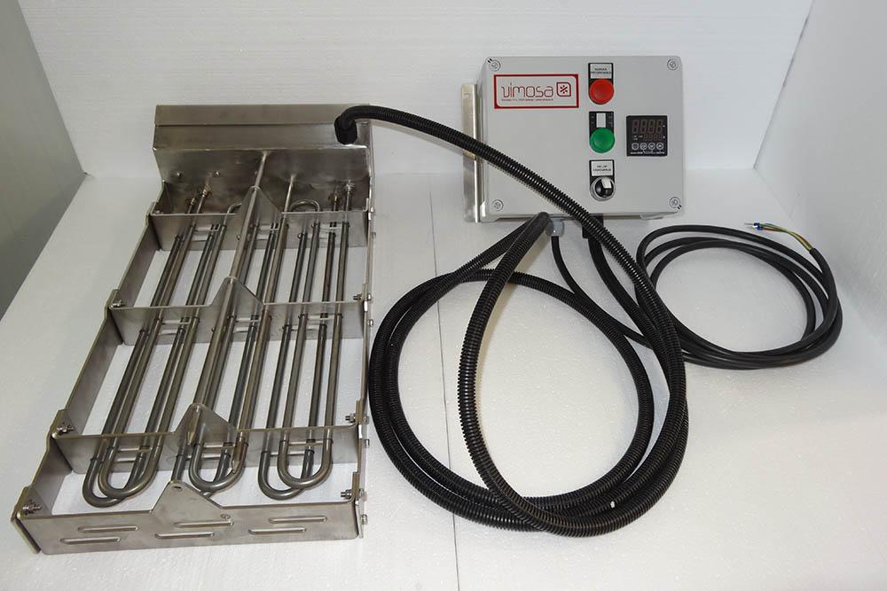 Naprava za ogrevanje keramičnega grelca