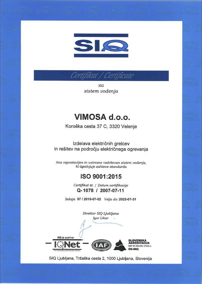 ISO certifikati